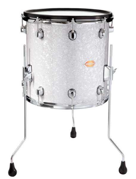 Tom Basse Drum Tec Pro Custom 14 Quot X 14 Quot White Pearl